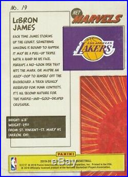 2019-20 Donruss Net Marvels #19 LeBron James Los Angeles Lakers