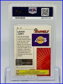 2019-20 Donruss Net Marvels #19 LeBron James Los Angeles Lakers PSA 10 GEM MINT