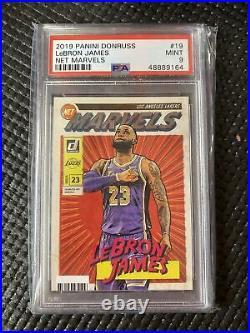 2019-20 Donruss Net Marvels #19 LeBron James Los Angeles Lakers PSA 9 MINT