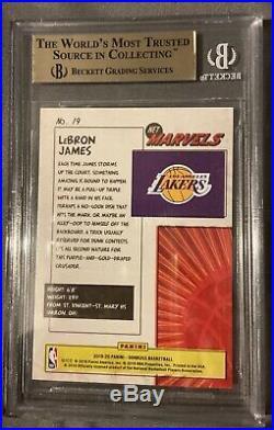 2019-20 Donruss Net Marvels LeBron James Los Angeles Lakers BGS 9.5
