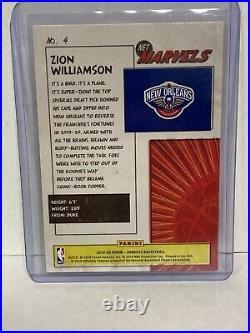 2019-20 Donruss Net Marvels Press Proof Gold Zion Williamson Rookie Card! RARE