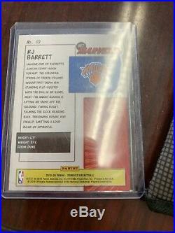 2019/20 Donruss RJ Barrett RC Net Marvels Gold Press Proof SSP #10 Knicks
