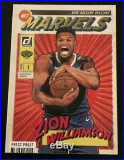 2019-20 Donruss Zion Williamson Net Marvels Gold Press Proof #4 SSP HOT