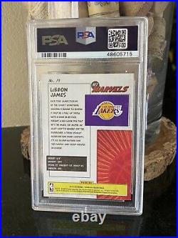 2019-20 LeBron James Donruss Net Marvels #19 PSA 9 MINT SP Los Angeles Lakers