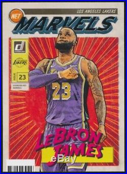 2019-20 Panini Donruss Basketball Lebron James Net Marvels Lakers