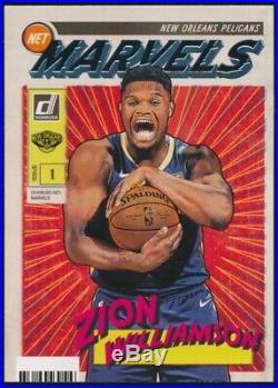 2019-20 Panini Donruss Basketball Zion Williamson Net Marvels Rookie