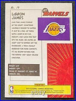 2019-20 Panini Donruss LeBron James Marvels Nice Centering! #19 Lakers NBA Card