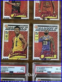 2019-20 Panini Donruss Net Marvels Complete Set 1-20 LeBron, Zion, PSA Luka