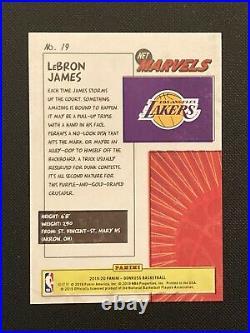 2019-20 Panini Donruss Net Marvels Lebron James #19 Lakers Rare SSP Insert GOAT