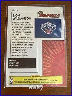 2019-20 Zion Williamson Donruss Net Marvels Gold Press Proof Rookie Card
