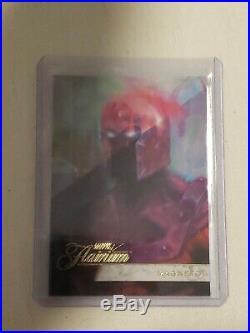 2019 Marvel Flair Flarium ACHIEVEMENT Ssp Super Rare mint card# 156 Magneto