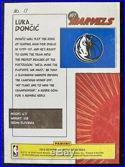 2019 Panini Donruss Luka Doncic Nets Marvels #17 MINT CONDITION