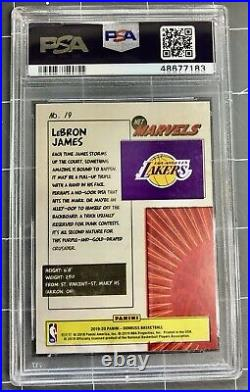 2019 Panini Donruss Net Marvels #19 LeBron James Lakers PSA 9 GEM 3