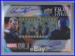 2019 UD Marvel Studios First 10 Years Brolin Hemsworth Dual Film Cel Autograph