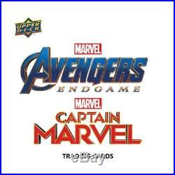 2019 Upper Deck Marvel Avengers Endgame & Captain Marvel Hobby Box PRESALE 3/27