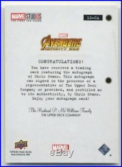 2019 Upper Deck Marvel Studios First Ten Years- Autograph- Chris Evans- LS-CA