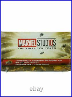 2019 Upper Deck Marvel Studios The First 10 Years Trading Cards Sealed Hobby Box
