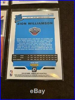 2019 Zion Williamson Rookie 4 Card Lot #4 Net Marvels Optic POTD +