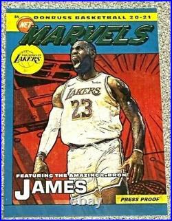 2020-21 Donruss LeBron James SSP. Marvel Press Proof GOLD. Lakers
