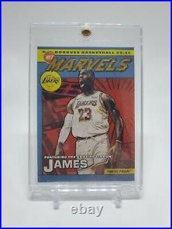 2020-21 Panini Donruss LeBron James Net Marvels Press Proof GOLD SSP Lakers
