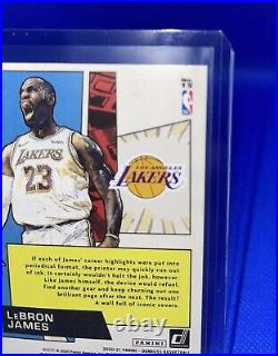 2020-21 Panini Donruss Lebron James Marvels Press Proof Gold Ssp Lakers