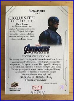 2020 Avengers Endgame Captain America Exquisite DIamond Auto Chis Evans #4/5