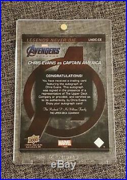 2020 Chris Evans Marvel Avengers Endgame Captain America Autograph Auto