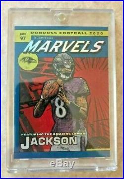 2020 Donruss Football Lamar Jackson MARVELS SSP