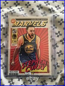 2020 Donruss Steph Curry Net Marvels Gold Press Proof ONLY SP RARE No. #18