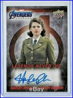 2020 Hayley Atwell Upper Deck Avengers Captain Marvel Endgame Auto P Carter! B