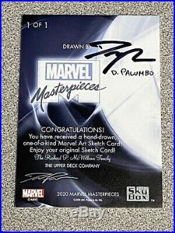 2020 Marvel Masterpieces Cloak & Dagger Sketch Card Artist Dave Palumbo 1/1