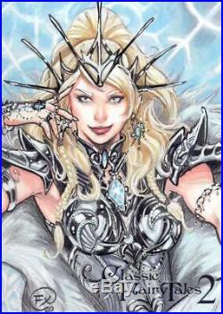 2020 Perna Studios Classic Fairy Tales 2 Sketch Card Effix Snow Queen