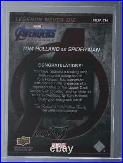 2020 Upper Deck Marvel Avengers Endgame & Captain Tom Holland #LNDA-TH Auto 00pq