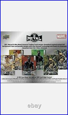 2021 Marvel X-Men Metal Universe Trading Cards Box Upper Deck Sealed. Ships ASAP