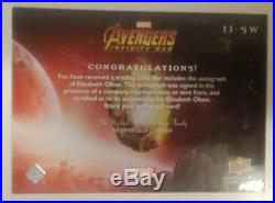 2x Lot Elizabeth Olsen Scarlet Witch Auto Upper Deck Marvel Avenger Infinity War