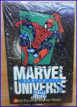 5 Box Lot Marvel Masterpieces 1992 1993 Universe III DC Cosmic Teams X-Men 1992