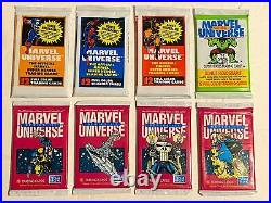 (8) Marvel Universe Series I II III Factory Sealed Trading Card Packs Impel 1990