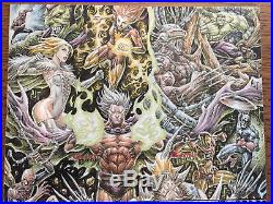 Anthony Tan Marvel GB 4 x AP 2 panel sketch artist proof 6.5 x 11