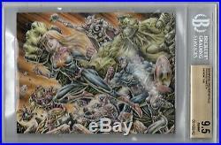 BGS 9.5 Marvel Greatest Battles DUAL UNCUT SKETCH Anthony Tan CAPTAIN MARVEL OT