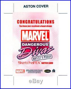BLACK CAT SPIDERMAN MARVEL DANGEROUS DIVAS ARTIST PROOF SKETCH CARD by COVER