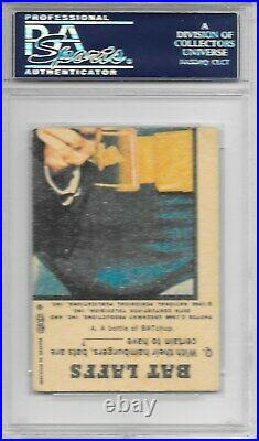 BURT WARD Signed 1966 BAT LAFFS UK ROBIN Batman Card #2 Boy Wonder Black PSA/DNA