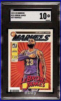Black Case 2019-20 Donruss Net Marvels #19 LeBron James Lakers SGC 10