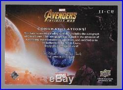 CHRIS EVANS 2018 Marvel Avengers Infinity War CAPTAIN AMERICA Autograph #II-CE