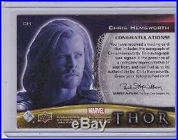 CHRIS HEMSWORTH Upper Deck Thor Autograph CH Marvel