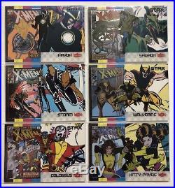 COMPLETE 2018 Marvel Fleer Ultra X-Men STAX Base Set 1 25 A, B, & C (75 Cards)