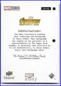 Chris Evans Captain America 2019 UD Marvel First Ten Years Auto Autograph #LS-CA