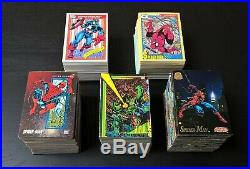 Complete 1990, 1991, 1992, 1993, 1994 Marvel Universe Base Card Sets