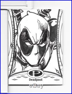 DEADPOOL Sketch 2014 Marvel Premier 1/1 #41 by artist NEAL ADAMS Comic LEGEND
