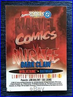 Dark Claw (Wolverine + Batman) Mirage Card 1995 Lenticular Marvel Versus DC