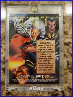 EXTREMELY RARE 1995 MARVEL MASTERPIECES X-MEN MIRAGE CARD LIMITED EDITION 2of2